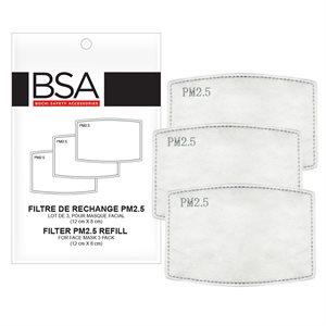 BSA FILTRES DE RECHANGE / 3 POUR MASQUES